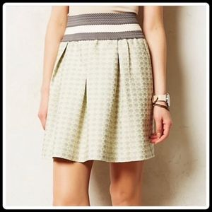 Anthropologie Maeve Skirt - mint green and gray